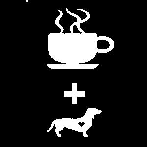 Dackel Kaffee Glücklich Geschenk Cappuccino TShirt