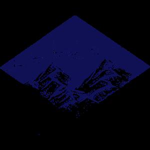 Berge und Polarlichter