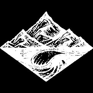 Berge und Welle