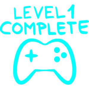 Level 1 complete 1 Geburtstag Spielkonsole