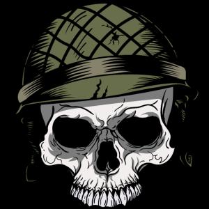 Soldat - Totenkopf - Militär - Soldatenhelm