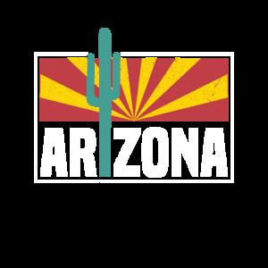Weinlese-Arizona-Wüsten-Sun-Kaktus-Ferien