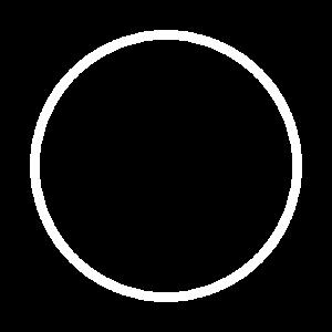 Kreis Ring Form Symbol Weiß