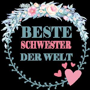 Beste Schwester der Welt Geschenkidee