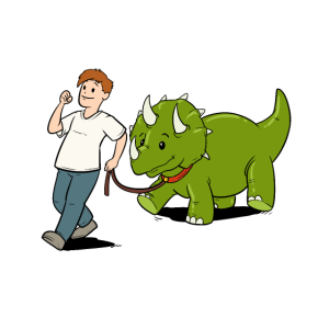 Triceratops Dino Dinosaurier Wissenschaft Nerd