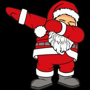 Dabbing santa clause Weihnachtsmann