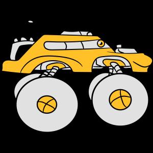 cool monster truck comic schnell augen cartoon ges