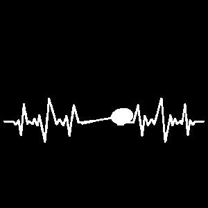 FEDERBALL - BADMINTON - HEARTBEAT - GESCHENK
