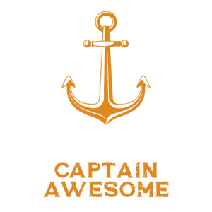 Captain Awsome Geschenk I Segeln Segler Anker