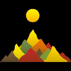 Gebirge Herbst Sonne