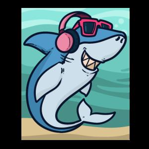Haifisch mit Musik