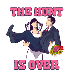 the hunt is over now bachelorette t-shirt