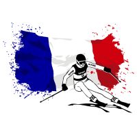 Ski Alpine - France Flag