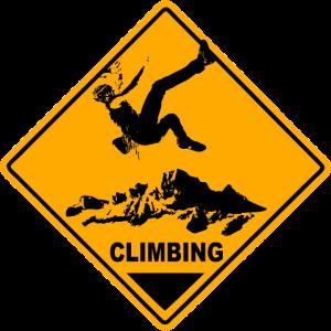 Climbing Road Sign