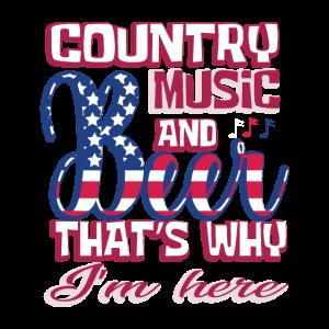 Country Musik Bier USA Flagge Fan Lustig Geschenk