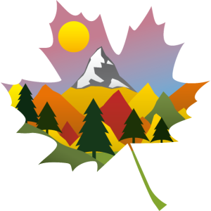 Berg Herbst Blatt
