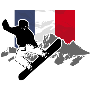 Snowboarding - France Flag