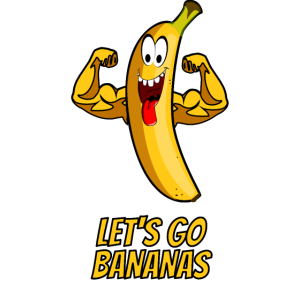 Let's go bananas - Party Banane Muskeln gelb