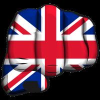 Englisch geballte Faust flag