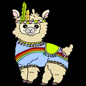 Lama Kawaii - niedliches Indiander Lama o. Alpaka