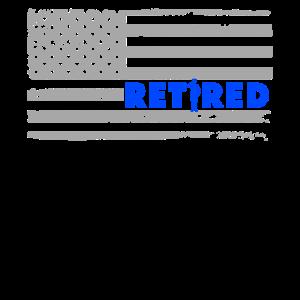 Pensionierter dünner Polizeibeamter der blauen Linie