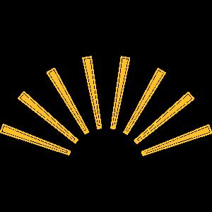 Retro Sonnenschein Sonnenstrahlen
