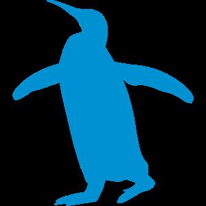 watschelnder blauer Pinguin