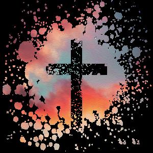 Christliche Kreuz mit Himmel Hintergrund