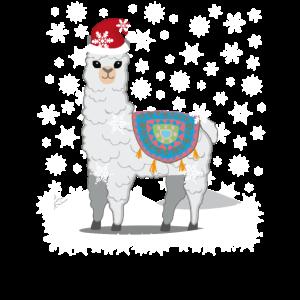 Weihnachten Lama Alpaka T-Shirt | Schönes Shirt