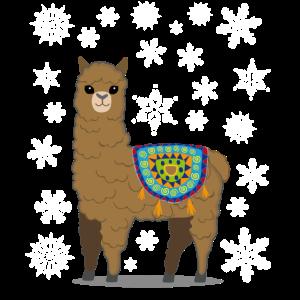 Weihnachten Lama Alpaka T-Shirt | Süßes Shirts