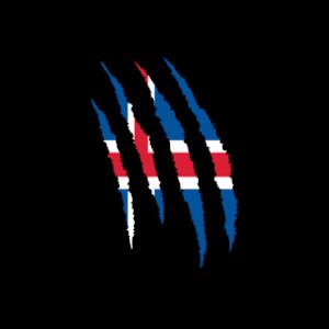 island flagge kralle
