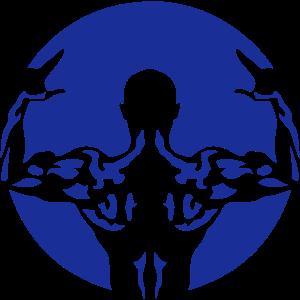 bodybuilding muskuloesen mann zurueck 21