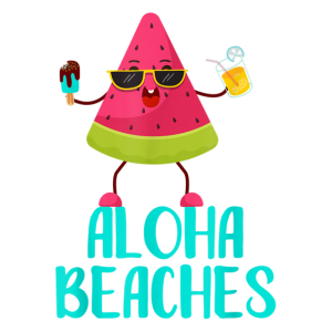 Wassermelone T Shirt Aloha Beaches Badeurlaub Stra