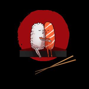 Sushi Japan Kuss Umarmung Kiss Hug