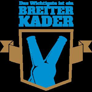 Fußball Bier Spruch T-Shirt Breiter Kader