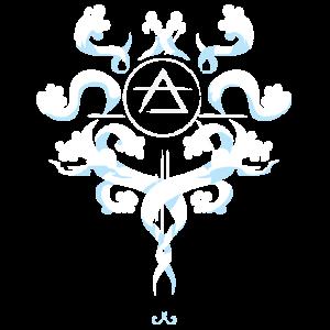 Alchemie Symbol Luft Air Wolken Himmel Zeichen