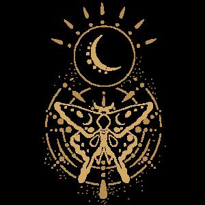 Alchemie Schmetterling Mond Motte Magie Geschenk