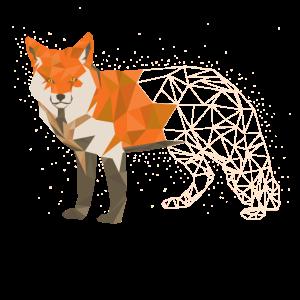 Origami Japanisch Papier Fuch Polygon Grafik Tier