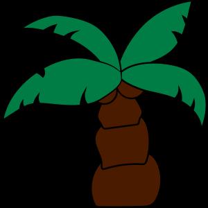 comic cartoon klein lustig süß niedlich palme