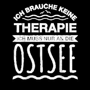 Ostsee Therapie T Shirt Ruegen Usedom Fehmarn Retr