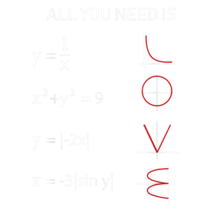 Mathe All you need is Love T Shirt Lehrer Geschenk