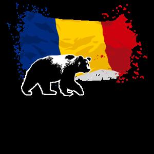Romania - Bear & Flag