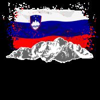 Slovenia - Mountains & Flag
