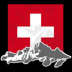 Switzerland - Mountains & Flag