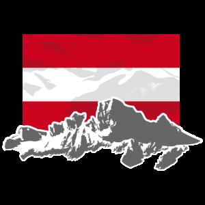 Austria - Mountains & Flag