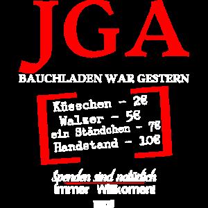 Bauchladen War Gestern HARIZ JGA Jungesellenabschi