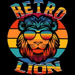 Löwenkopf Retro Regenbogen