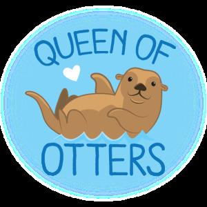 Königin der Otter mit dem süßesten Otter