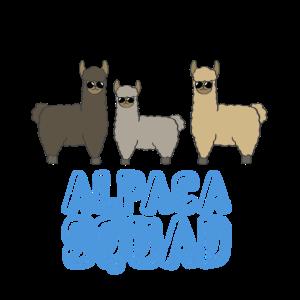 Alpaka Squad Lama Cooles Geschenk