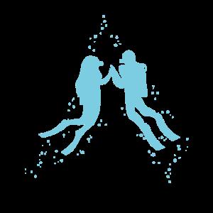 Scuba-Diving Paar